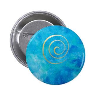 Bright Blue - Infinity espiral oro azul Bowman Pins
