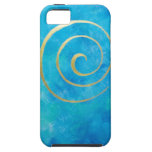 Bright Blue Infinity Golden Spiral Philip Bowman iPhone 5 Cover