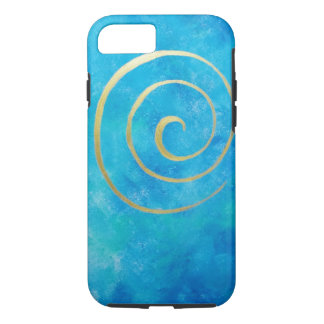 Bright Blue Infinity Golden Spiral Philip Bowman iPhone 7 Case