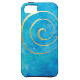 Bright Blue Infinity Golden Spiral Philip Bowman iPhone SE/5/5s Case
