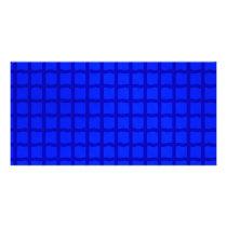 Bright Blue Lattice Pattern Card