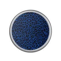 Bright Blue Leopard Animal Print Speaker