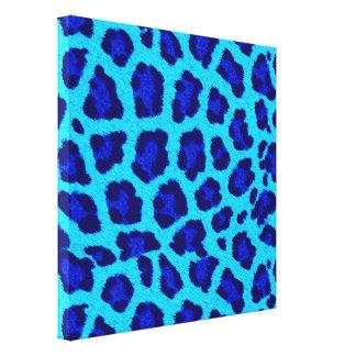 Bright Blue Leopard Print Wall Art