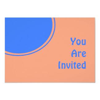 Bright Blue Light Orange Retro Party Invite