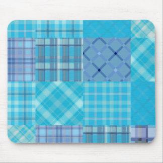 Bright Blue Madras Plaid Mouse Pad
