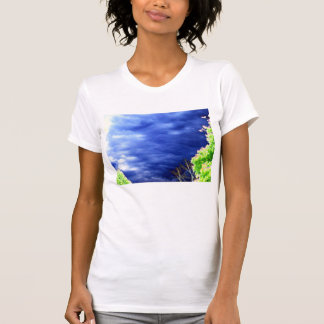 Bright Blue Mammatus and Glowing Trees by KLM Tees