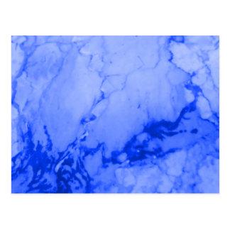Bright Blue Marble Pattern Postcard