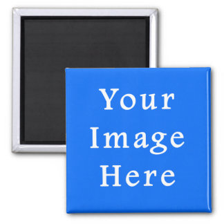 Bright Blue Medium Hanukkah Chanukah Hanukah 2 Inch Square Magnet