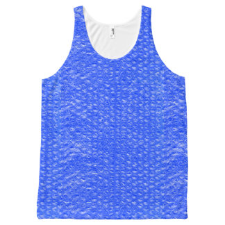 Bright Blue Mermaid Sea Soda Pop Bubble Wrap All-Over-Print Tank Top