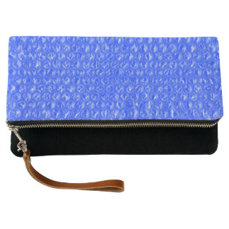 Bright Blue Mermaid Sea Soda Pop Bubble Wrap Clutch