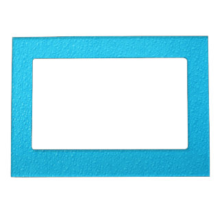 Bright Blue Neon Trendy Colors Magnetic Frame