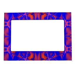 Bright blue orange abstract photoframe magnetic frame