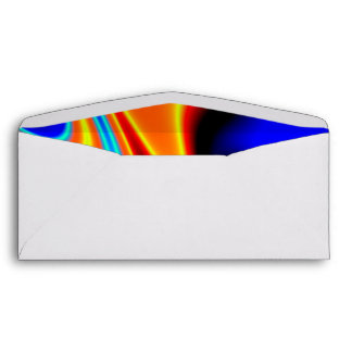 Bright Blue Orange Yellow Abstract Envelope