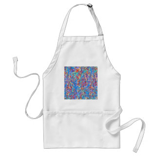 Bright Blue Paint Splatter Abstract Adult Apron