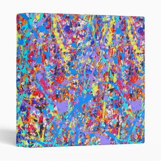 Bright Blue Paint Splatter Abstract Binder