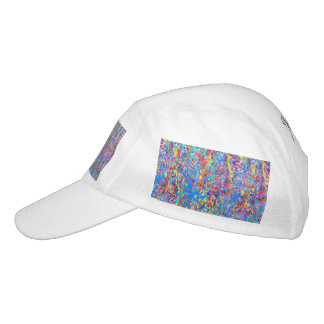 Bright Blue Paint Splatter Abstract Hat