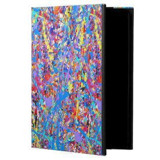 Bright Blue Paint Splatter Abstract iPad Air Case