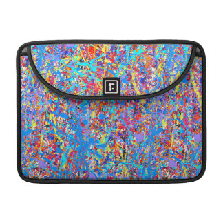 Bright Blue Paint Splatter Abstract MacBook Pro Sleeves