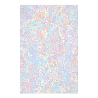 Bright Blue Paint Splatter Abstract Stationery