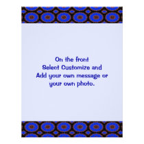 bright blue pattern flyer
