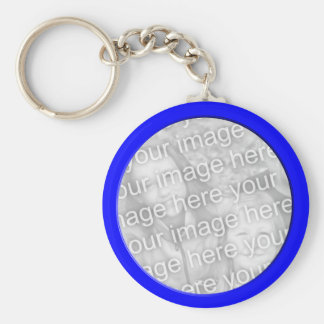 bright blue  photo frame keychain