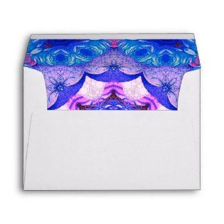 Bright Blue Pink Abstract Pattern Envelope