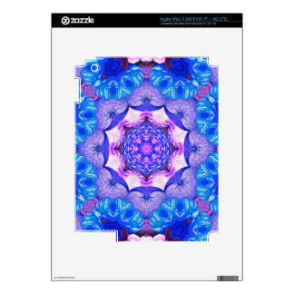 Bright Blue Pink Abstract Pattern iPad 3 Decals