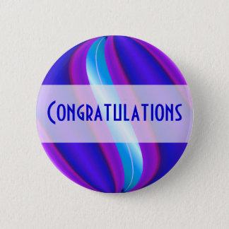 bright blue pink Congratulations Button