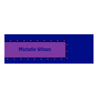 Bright blue pink mod box Double-Sided mini business cards (Pack of 20)