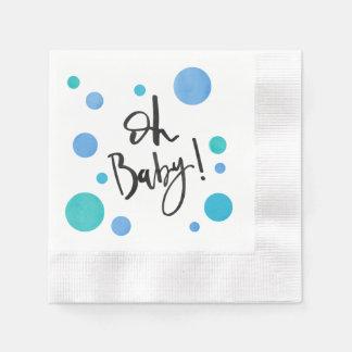 Bright Blue Polka Dot Baby Shower Napkins