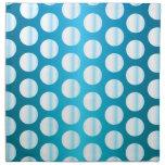 Bright Blue Polka Dot Napkins