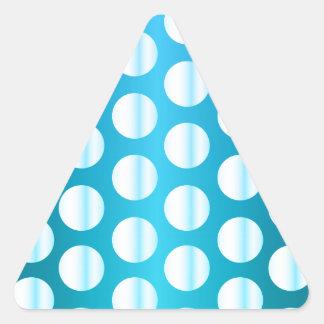 Bright Blue Polka Dot Triangle Sticker