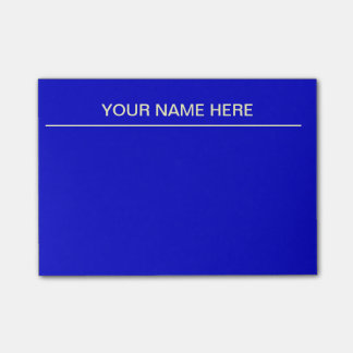Bright Blue Post It Notes