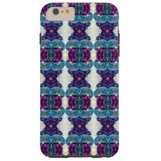 Bright Blue Purple Roman Pedestal Pillar Tile Tough iPhone 6 Plus Case