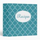 Bright Blue Recipe Binder