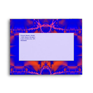 bright blue red envelopes