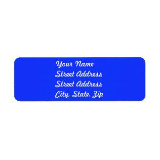 Bright Blue Return Address Sticker Return Address Label
