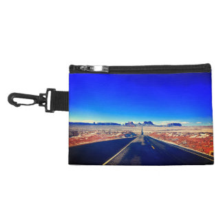 Bright Blue Road to Monument Valley Utah Accessory Bag