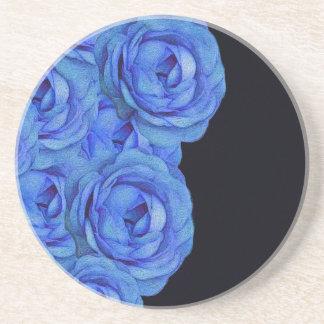 Bright Blue Roses Coaster