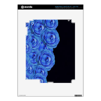 Bright Blue Roses Decals For iPad 3