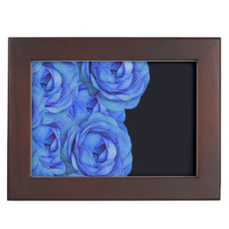 Bright Blue Roses Memory Box