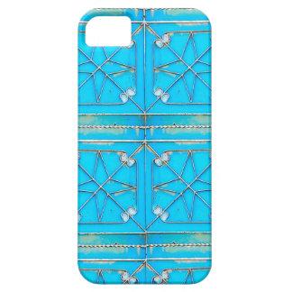 Bright Blue Rusty Steel Door iPhone case