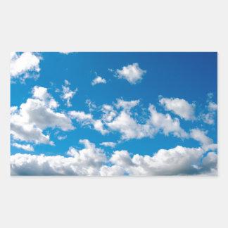 Bright Blue Sky Rectangular Sticker