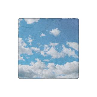 Bright Blue Sky Stone Magnet