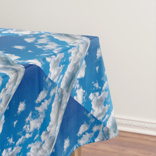 Bright Blue Sky Tablecloth Zazzle Com