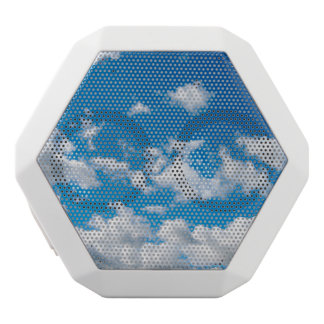 Bright Blue Sky White Bluetooth Speaker