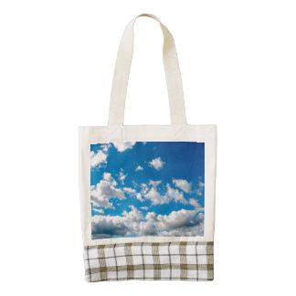Bright Blue Sky Zazzle HEART Tote Bag