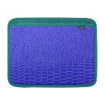 Bright blue snakeskin MacBook air sleeves