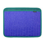 Bright blue snakeskin MacBook sleeve