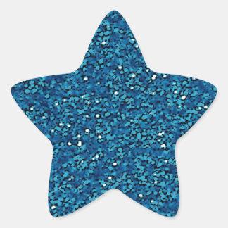 Bright blue sparkly glitter stickers